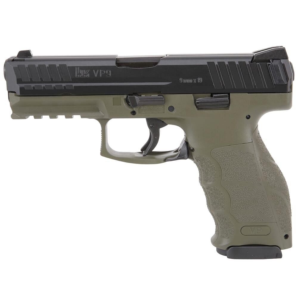 HK VP9 9mm Green Pistol w/(2) 17rd Mags, (2) Add'tl Backstraps, & (2) Add'tl Sets of Lateral Grip Plates 81000233