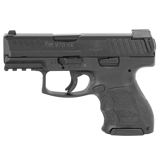 HK VP9SK-B 9mm Pistol w/ Push Button Mag Release, (1) 13rd, (2) 10rd Magazine and Night Sights 81000294