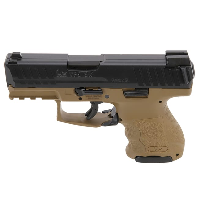 HK VP9SK Subcompact 9mm FDE Pistol (1) 13rd, (1) 10rd Mags and Night Sights 81000292