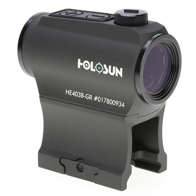 Holosun HE403B-GR Green 2MOA Dot 20mm Micro Reflex Sight w/ Shake Awake - HE403B-GR