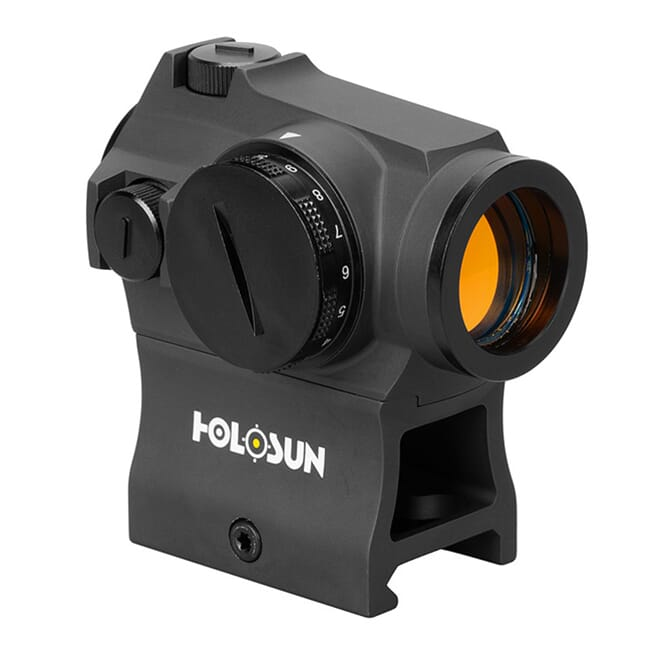 Holosun HE403R-GD Gold 2MOA Dot 20mm Micro Reflex Sight w/ Shake Awake and Rotary Switch - HE403R-GD