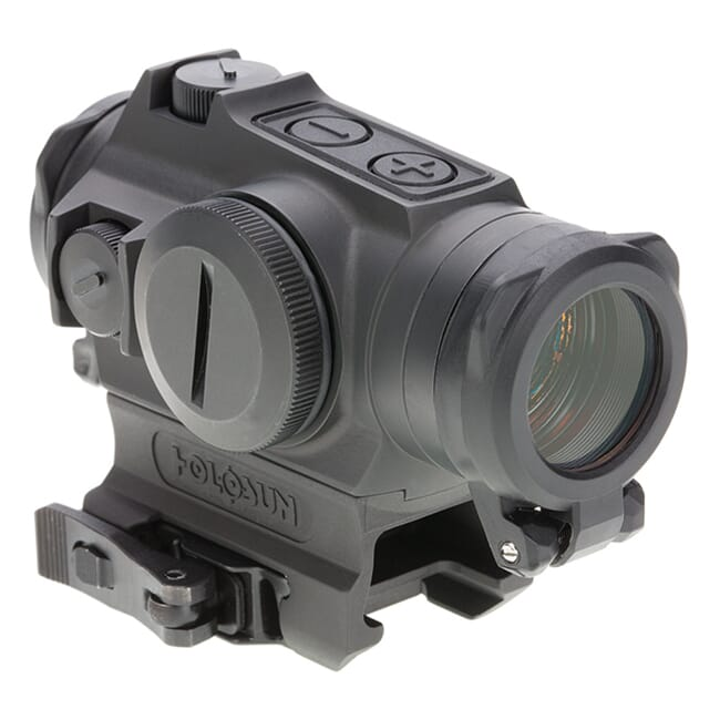 Holosun HE515GT-GR Titanium Green Multi-Reticle Circle Dot 20mm Micro Reflex Sight w/ Shake Awake and QD Mount - HE515GT-GR