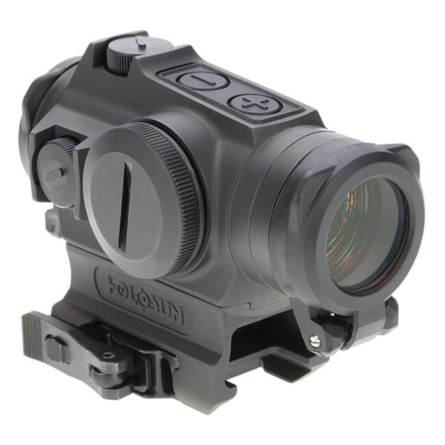 Holosun HE515GT-RD Titanium Multi-Reticle Circle Dot 20mm Micro Reflex Sight w/ Shake Awake and QD Mount - HE515GT-RD