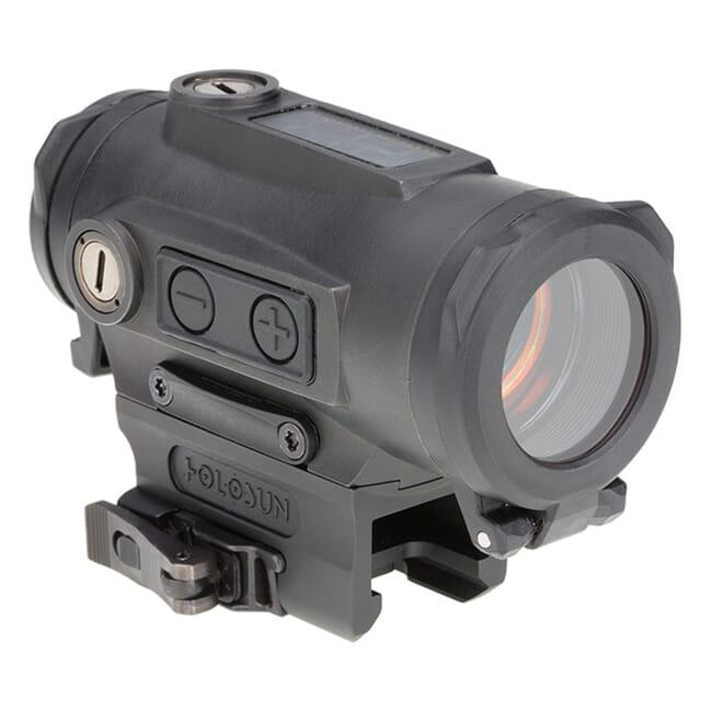 Holosun HE530C-RD Titanium Multi-Reticle Circle Dot 30mm Reflex Sight w/ Solar Failsafe, Shake Awake, and QD Mount - HE530C-RD