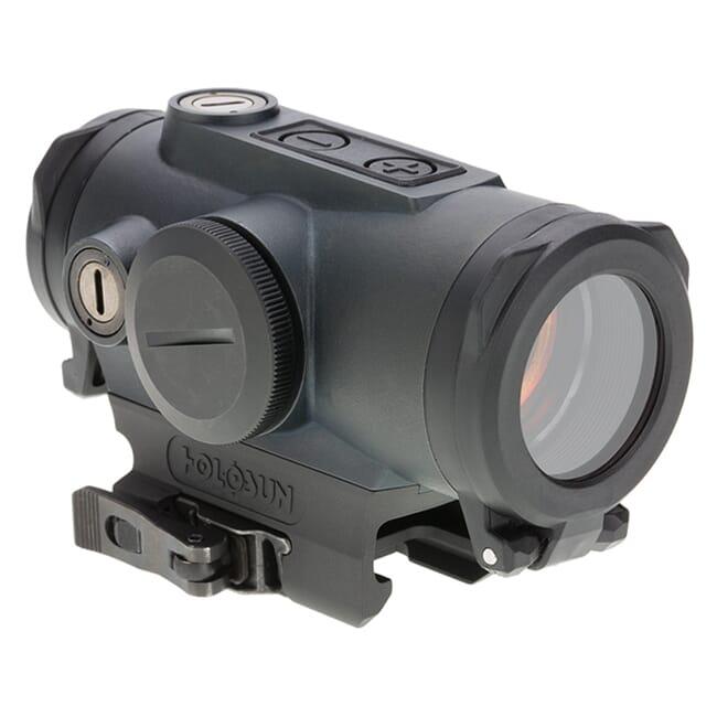 Holosun HE530G-GR Titanium Green Multi-Reticle Circle Dot 30mm Reflex Sight w/ Shake Awake and QD Mount - HE530G-GR