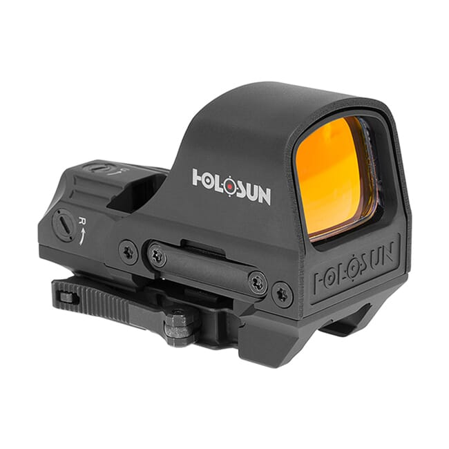 Holosun HS510C Multi-Reticle Circle Dot Open Reflex Sight w/ Solar Failsafe, Shake Awake, and QD Mount - HS510C