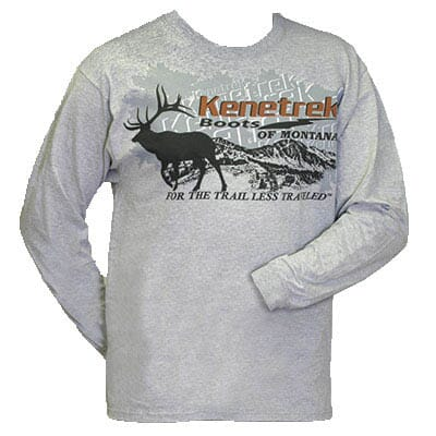 Kenetrek Logo T-Shirt Grey Long Sleeve KEQ-TGRY