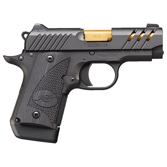 Kimber Micro 9 ESV (Black) (TiN Gold Barrel) 9mm Pistol 3300199