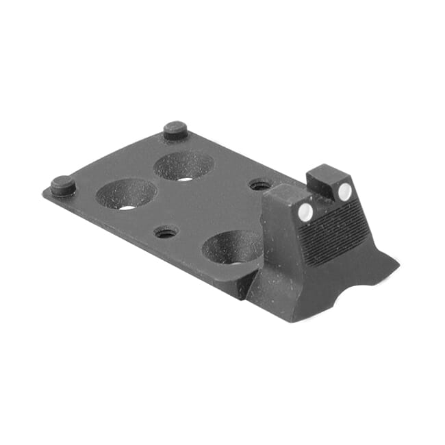 Optics plate w/ integral co-witness rear white dot sight for Vortex optics