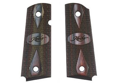 Kimber Ruby/Charcoal Laminate Compact Grips 1100161A