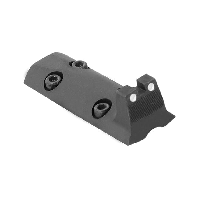 Optics plate cover rear sight, white dot