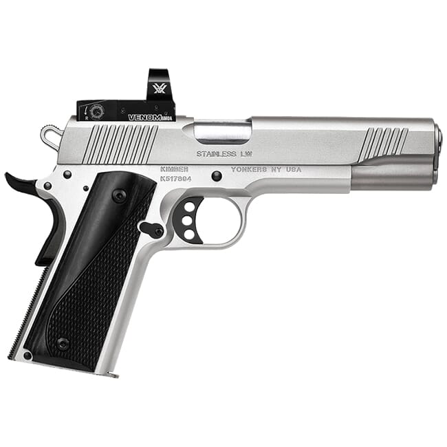 Kimber Stainless LW (Arctic) .45 ACP 8rd Pistol w/ Vortex Venom 6 MOA Red Dot Installed 3700640