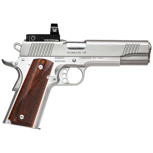Kimber Stainless LW .45 ACP 8rd Pistol w/ Vortex Venom 6 MOA Red Dot Installed 3700633