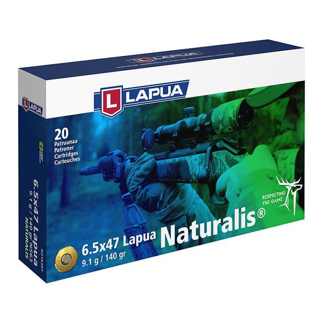 Lapua 6.5x55 Swede 140gr Naturalis Solid Ammo Box of 20 N316301