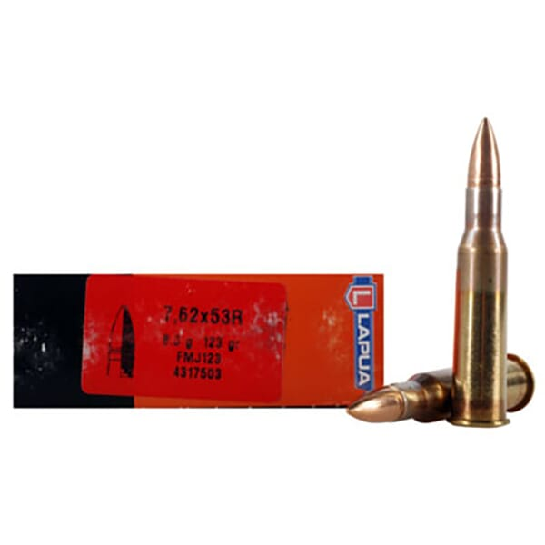 Lapua 123gr FMJ Rifle Ammunition LU4317503