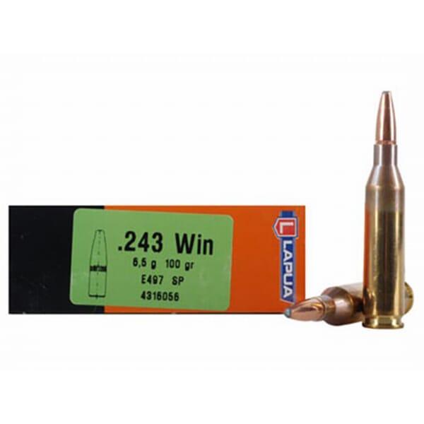 Lapua 100gr SP Rifle Ammunition LU4316056