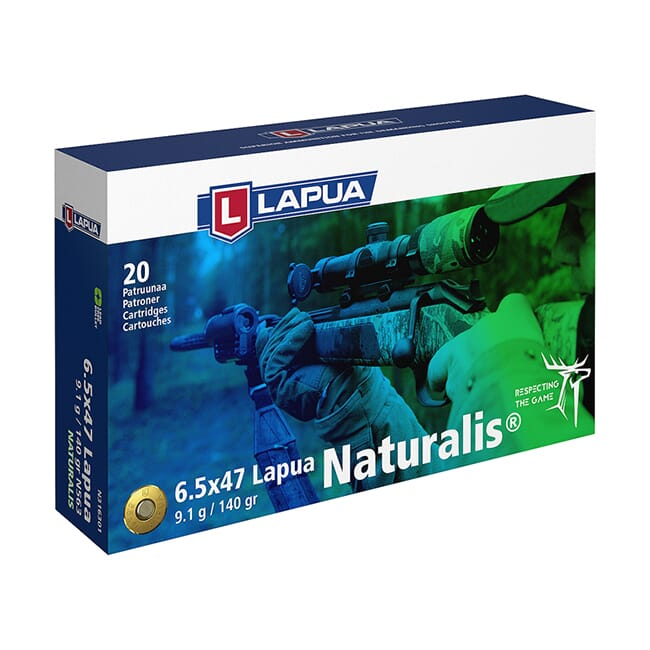 Lapua 6.5x47 Lapua 140gr Naturalis Solid Ammo Box of 20 N316301