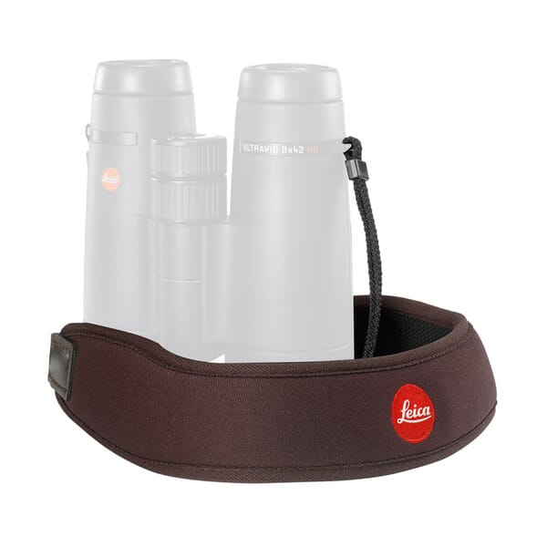 Leica Neoprene Bino Neck Strap - Chocolate Brown 42053 42053