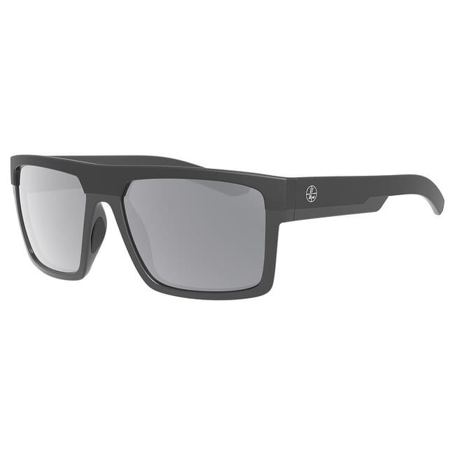 Leupold Becnara Matte Black/Gloss Black, Shadow Gray Flash Lens Performance Eyewear 179102