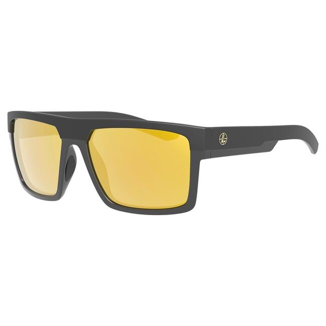 Leupold Becnara Matte Black/Gloss Black, Orange Mirror Lens Performance Eyewear 179633