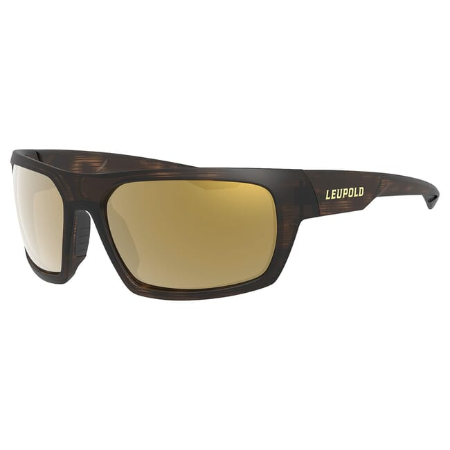 Leupold Packout Matte Tortoise, Bronze Mirror Lens Performance Eyewear 179094
