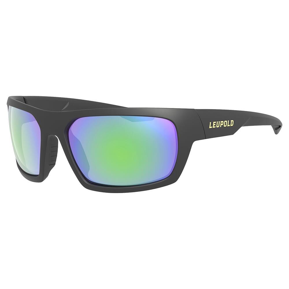 Leupold Packout Matte Black, Emerald Mirror Lens Performance Eyewear 179095