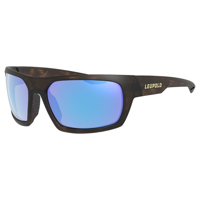 Leupold Packout Matte Tortoise, Blue Mirror Lens Performance Eyewear 179630