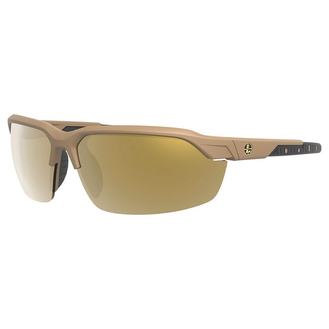 Leupold Tracer Shadow Tan, Bronze Mirror, Performance Eyewear Includes (2) Yellow & Clear Lenses 179090