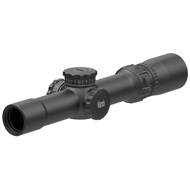 March Compact Tactical 1-10x24 Di-plex Reticle 1/4MOA Riflescope D10V24T