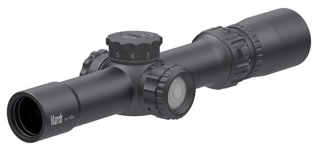 March Compact Tactical 1-10x24 FD-1 Reticle 0.1MIL Illuminated Riflescope D10V24TIML