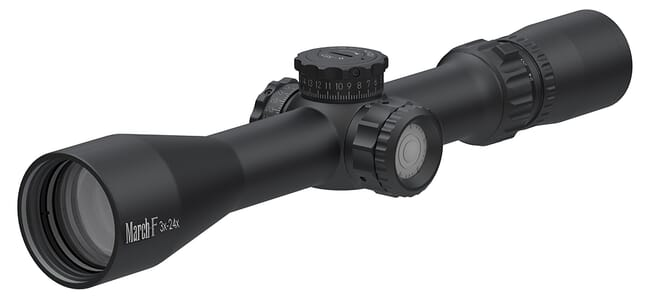 March F Tactical 3-24x42 FMA-1 Reticle 1/4MOA Illuminated FFP Riflescope D24V42FIMA