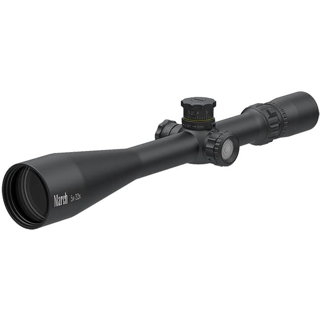 March Tactical 5-32x52 MTR-3 Reticle 1/8MOA Illuminated Riflescope D32V52TI