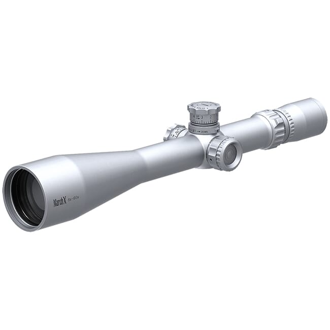 March X Tactical 8-80x56 Silver MTR-1 Reticle 1/8MOA Illuminated Riflescope D80V56STI