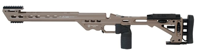 Masterpiece Arms Remington Long Action Left Hand Black BA Chassis