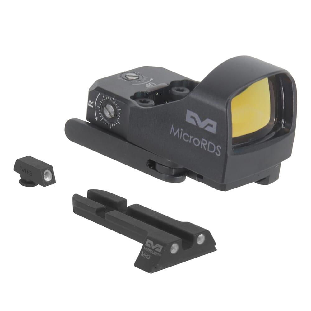 Meprolight microRDS Glock Red Dot Sight Full Kit w/Backup Night Sight Set & QD Adapter 88070500