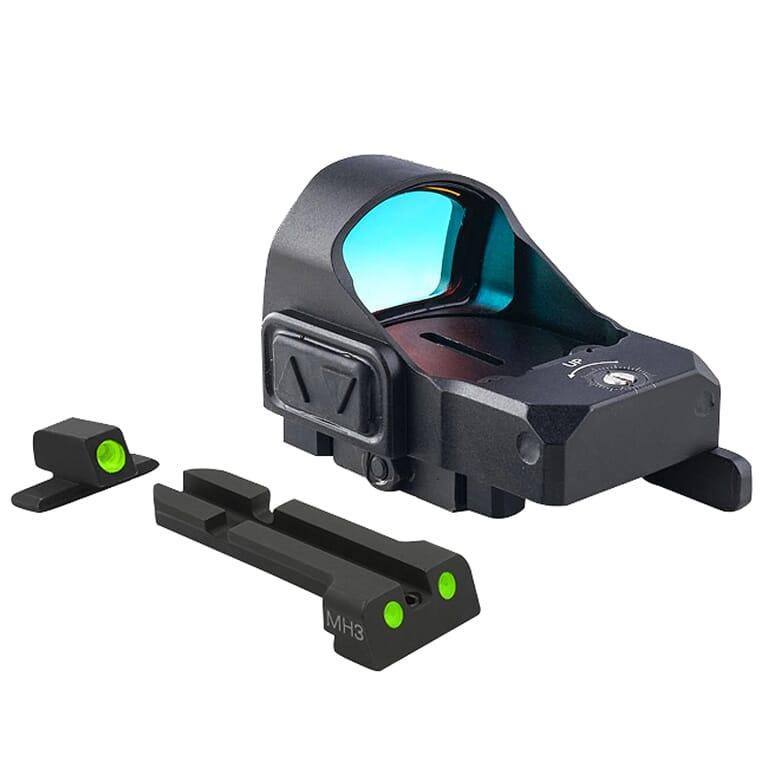 Meprolight microRDS IWI Masada Red Dot Sight Full Kit w/Backup Night Sight Set & QD Adapter 88070503