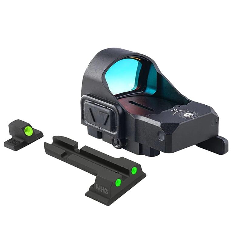 Meprolight microRDS S&W M&P Red Dot Sight Full Kit w/Backup Night Sight Set & QD Adapter 88070504