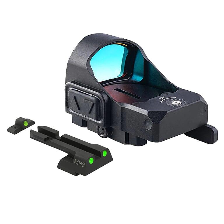 Meprolight microRDS H&K 45/45C/P30/VP9/SFP9 Red Dot Sight Full Kit w/Backup Night Sight Set & QD Adapter 88070505