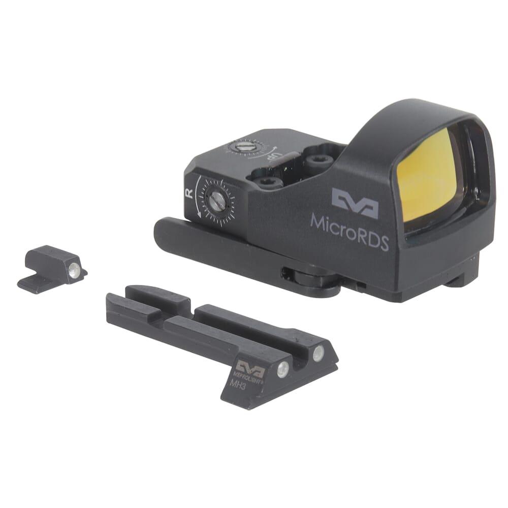 Meprolight microRDS Springfield XD Models/Hellcat Red Dot Sight Full Kit w/Backup Night Sight Set & QD Adapter 88070510