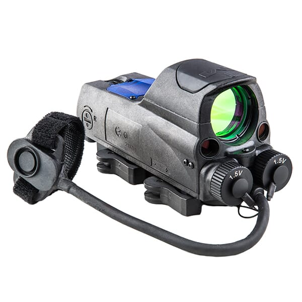Meprolight MOR PRO 2.2 MOA Bullseye Multi-Purpose Tritium/Adjustable LED Illum Reflex Sight w/Green & IR Lasers 0687743