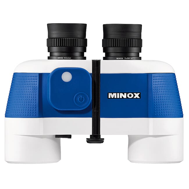 Minox BN 7 x 50 C II (blue/white) Binoculars with Built-In Suunto Compass 62256