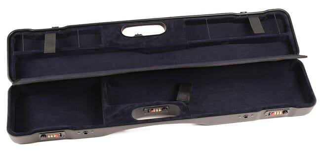 Negrini Uplander O/U or SXS Upland Shotgun Case w/ QD Padded Shoulder Strap Black/Blue Interior 16405LR/5541