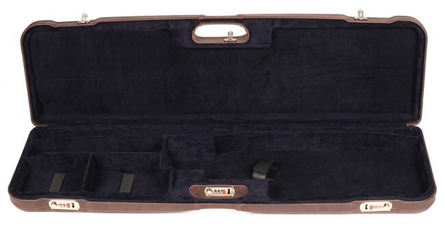 "Negrini One Shotgun 36"" Case Brown Leather/Bordeaux 1657PL"