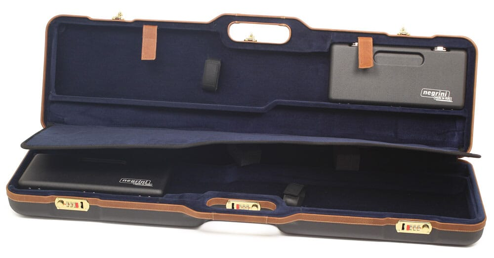 "Negrini Two Gun 36"" Case ABS Black/Blue 1677LX-UNI/5078"