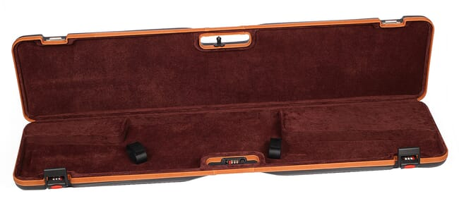 Negrini Scoped Bolt Acmon Rifle Case Black/Cognac Brown Interior 1619LX/5287