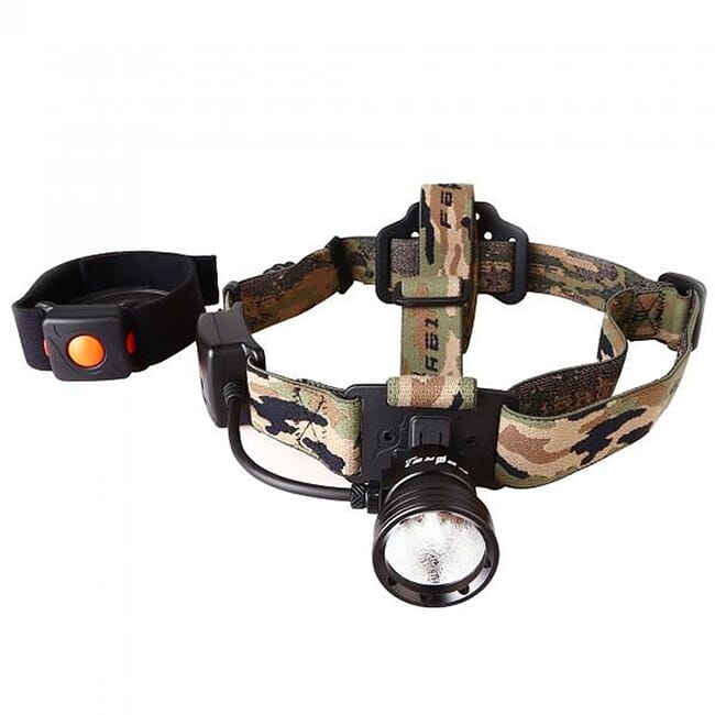 Night Eyes Red Wireless Remote Single Beam Headlamp Kit HL09-R