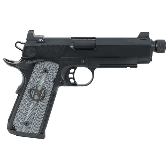 Nighthawk 4.25? Threaded Barrel, Tri-Cut Top With Custom Cocking Serrations, Tritium Tall Suppressor Sights, Black Out Finish. (Also Available In 9mm) MPN NH-Silent Hawk .45ACP