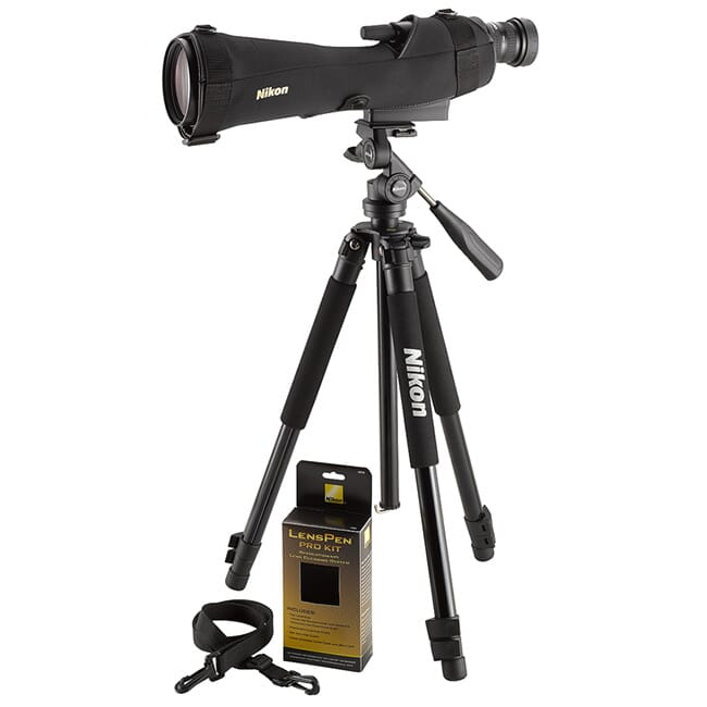 Nikon PROSTAFF 5 20-60x82 Straight Spotting Scope Kit 6982