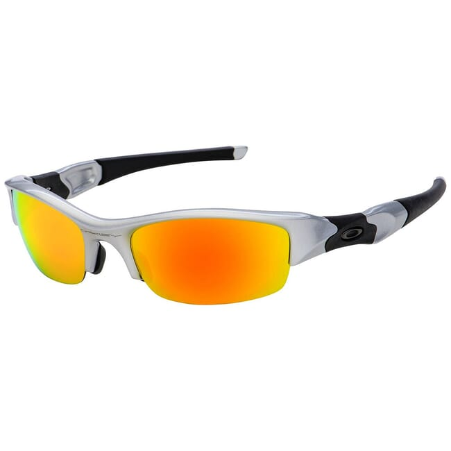 Oakley Flak Jacket Silver w/Fire Lenses 03-884