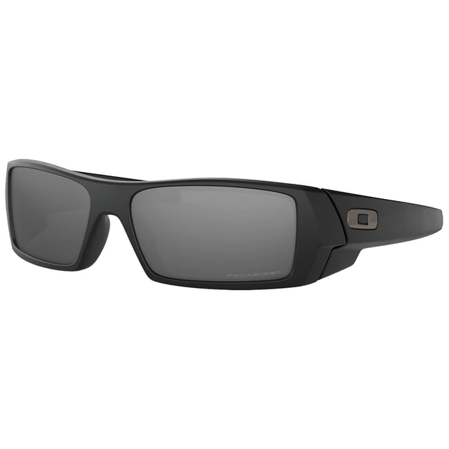 Oakley GasCan Matte Black w/Black Iridium Polarized Lenses 12-856